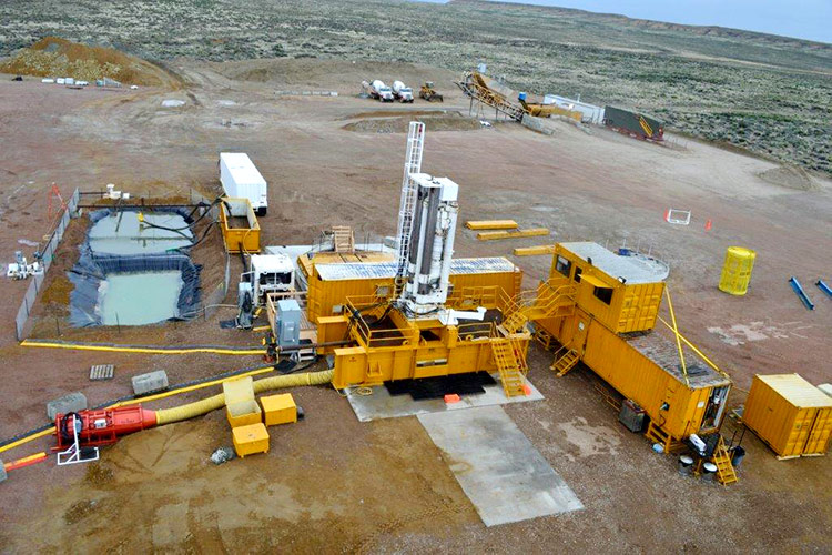 81R Raise bore machine setup at solvay chemicals mine